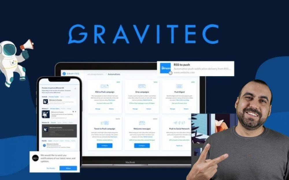 Add Push notifications to your websites with Gravitec