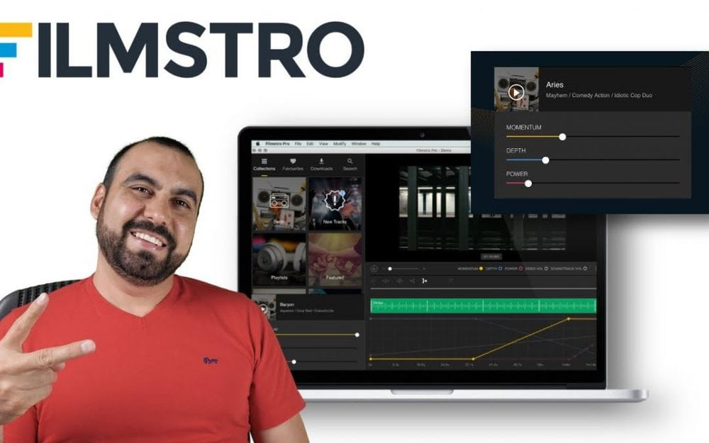 Filmstro Pro allows you to create custom soundtracks for Youtube and clients