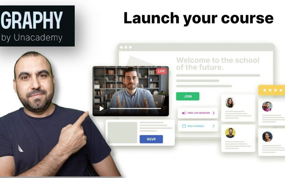 Launch your course for FREE on Graphy by Unacademy