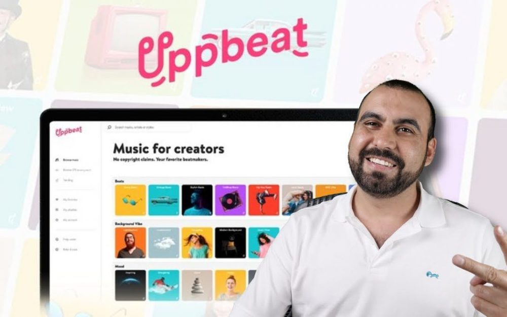 Music library for YouTube and social media videos UppBeat