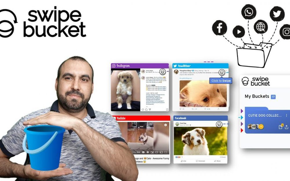 Swipe, save, and organize articles, ads, videos, recipes with SwipeBucket