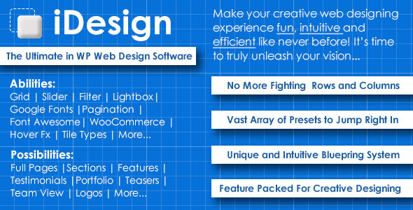 iDesign - The ultimate in WP web design software - CodeCanyon Item for Sale