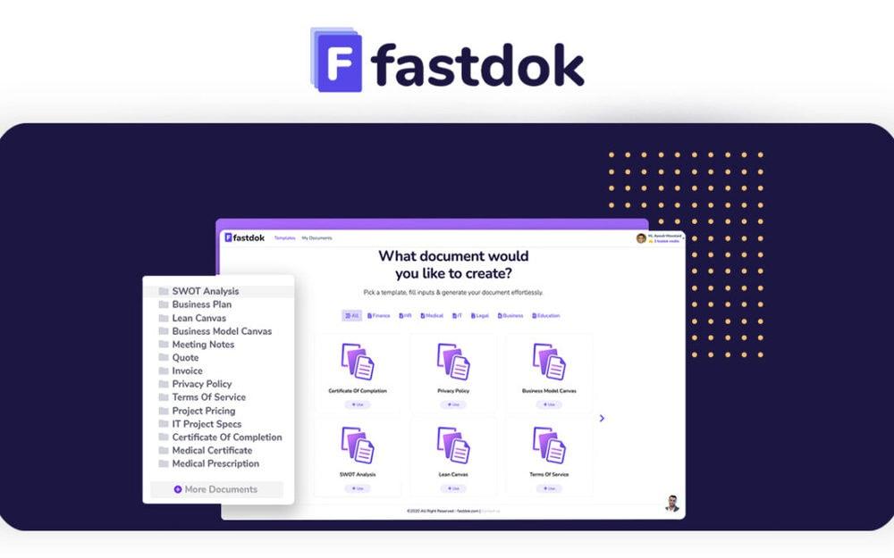 Fastdok – On-line Doc Generator