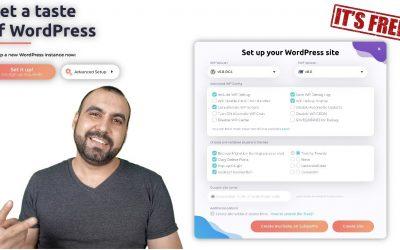 Setup free WordPress tester sites for Developers or Noobs