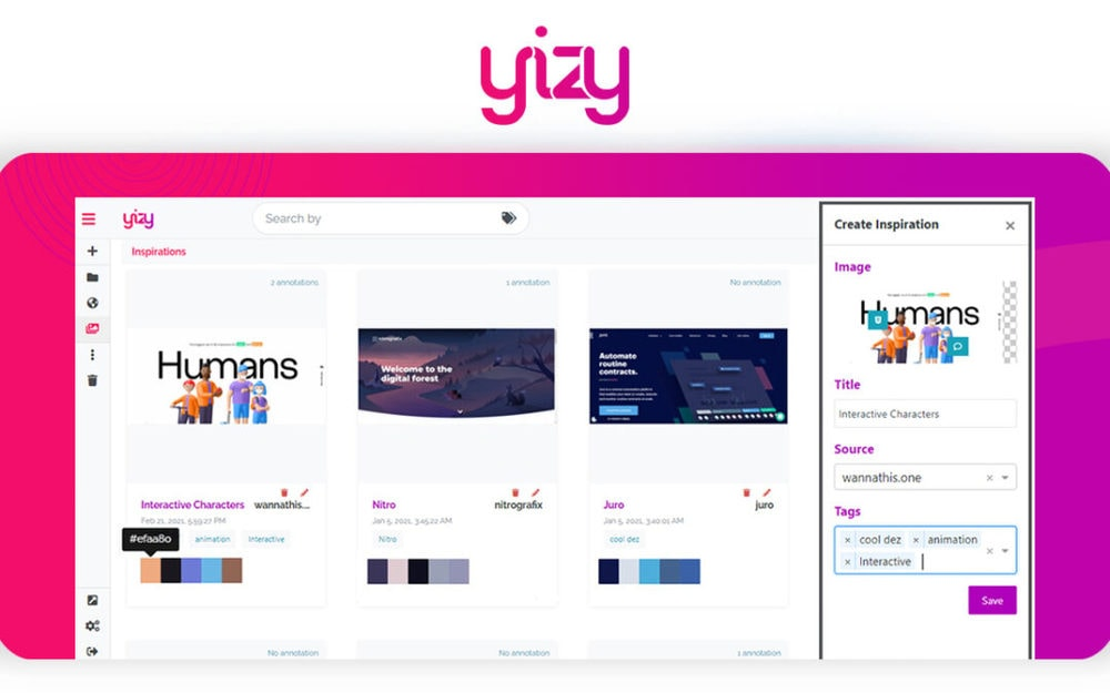 Yizy – Bookmarking made Yizy-er