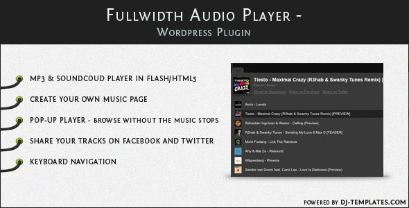 Fullwidth Audio Player – WordPress plugin
