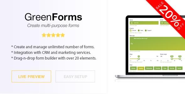 PhrasePress Form Builder – Green Forms