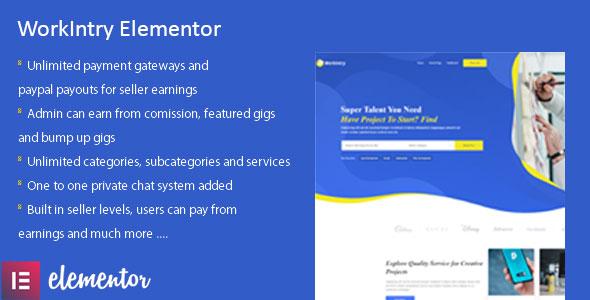 Workintry – Freelance and Job Board Elementor Extension WordPress Plugin